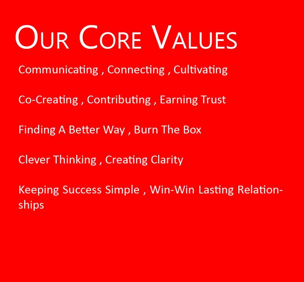 Coach Wendy Stevens Core Values